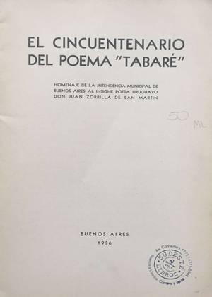 """El Cincuentenario del poema """"Tabaré"""""""