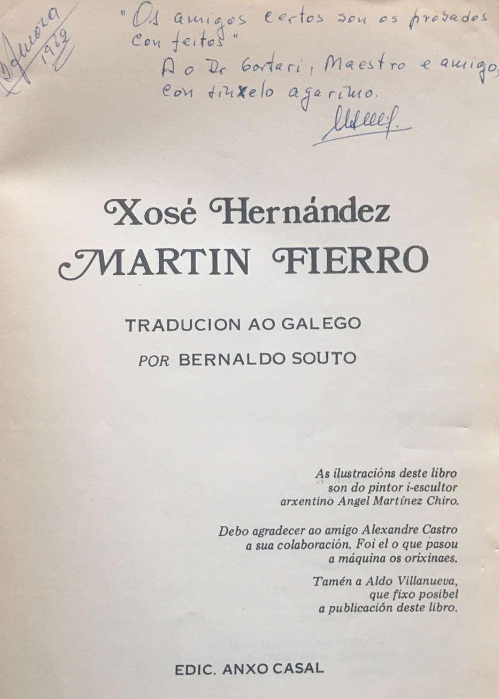 El Martín Fierro en el idioma gallego